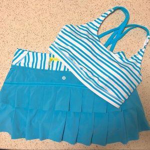 Lululemon Run Pace Setter Skirt  Spry Blue
